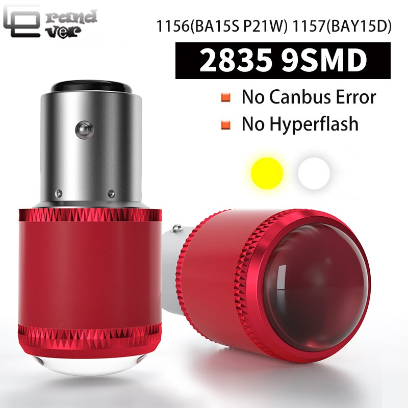2PCS 1156 BA15S LED For Turn Signal Light P21W PY21W LED 1157 BAY15D LED W21 2835 9SMD For Brake Light Reversing Lamp Taillight