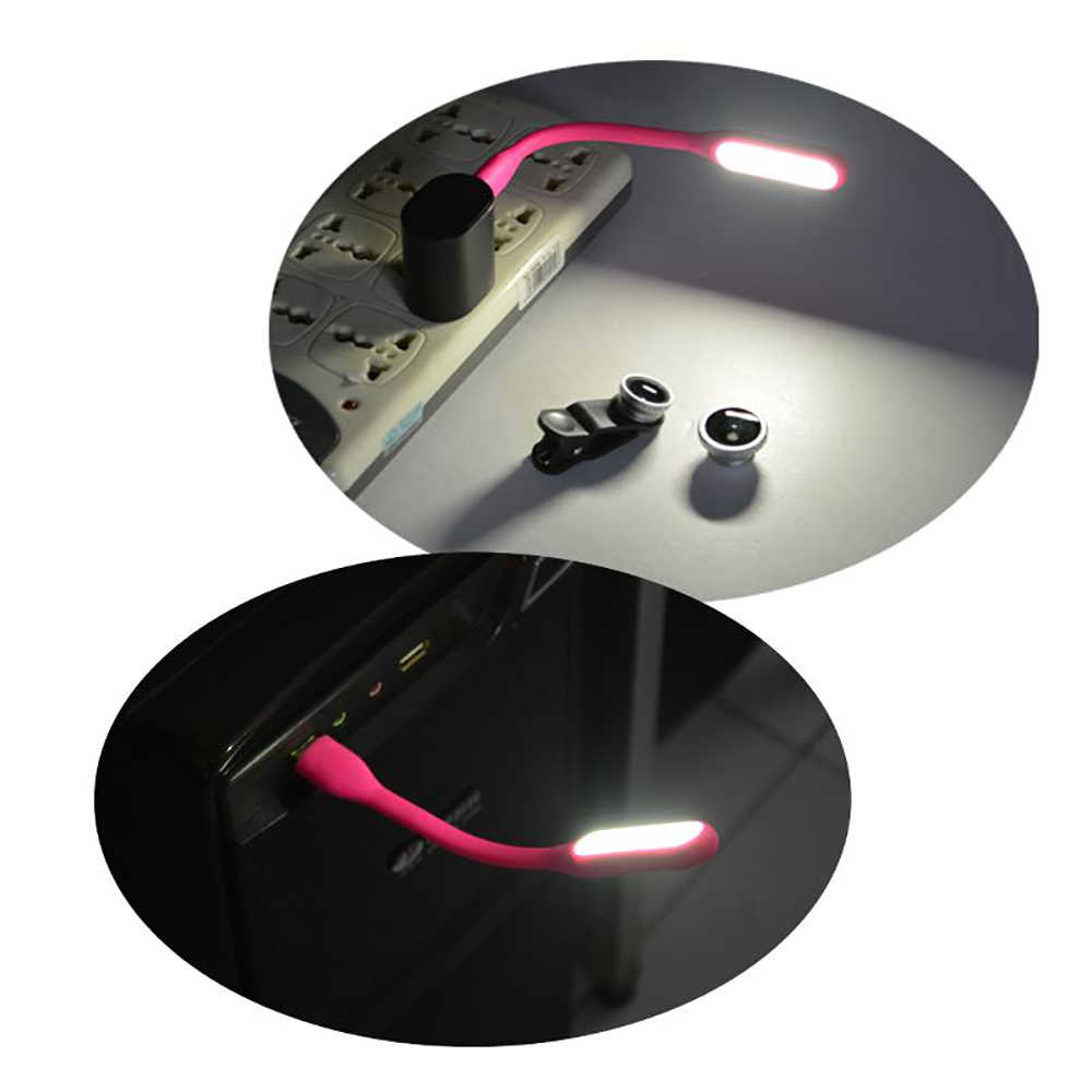 Bendable Mini LED Light Emergency Laptop USB Night Light 1.2w Warm White Eye protection Lighting Lamp 10 Color/Random Color D40