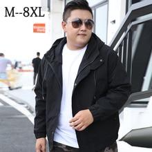 8XL Plus Size Men's Jacket 2020 New Oversized Casual Style  Men's Clothing