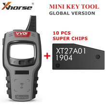Xhorse VVDI MINI Key REMOTE Key Programmer Support IOS และ Android VVDI Key เครื่องมือ Global รุ่น 10pcs ฟรี Super ชิป