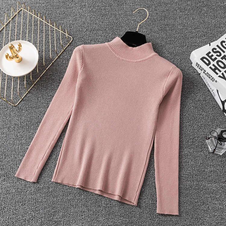 Colorfaith Nieuwe 2019 Herfst Winter vrouwen Truien Coltrui Breien Dieptepunt Warm Tops Koreaanse Stijl Solid Minimalistische SW021