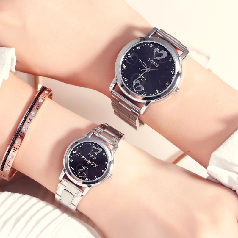 Top Brand MIKE Lovers' Couples Quartz Luxury Men Valentine Gift Clock Watches Ladies Unisex 30m Waterproof Wristwatches