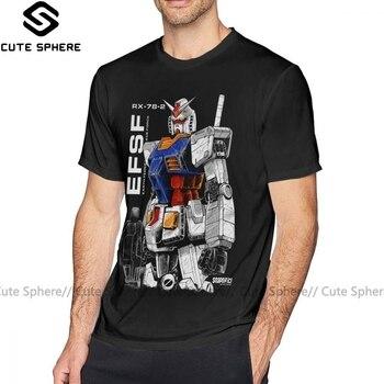 Destiny T Shirt Gundam T-Shirt XXX Printed Tee Shirt Men Awesome Streetwear 100 Percent Cotton Short Sleeves Tshirt dark blue feather pattern cold shoulder short sleeves t shirt