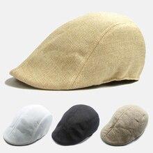 Новая весенняя и осенняя Корейская версия прилива Мужская хлопковая шапка вперед британская льняной берет Повседневная Бейсболка хипстера