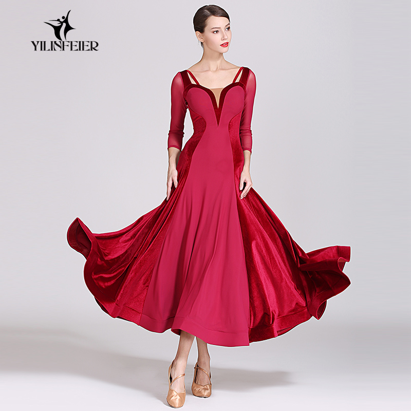 New Ballroom Dance Competition Dress Dance Ballroom Waltz Dresses Standard Dance Dress Women Ballroom Dress  1884