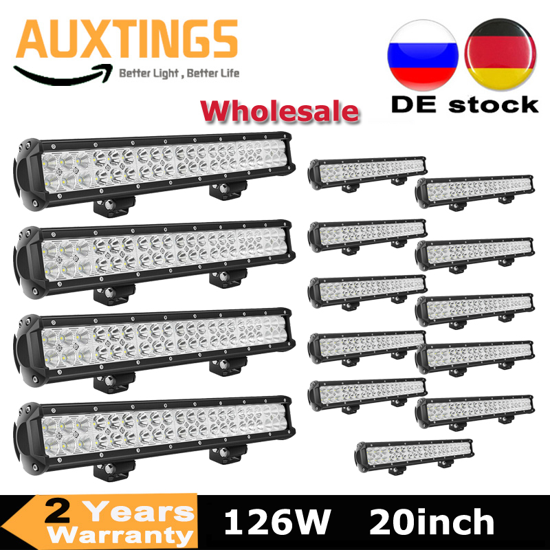 1-14PCS 126w 20inch <font><b>LED</b></font> <font><b>Light</b></font> Bar <font><b>Offroad</b></font> Boat <font><b>Car</b></font> Tractor Truck 4x4 SUV ATV Driving Fog Lamp <font><b>LED</b></font> Bar Wholesale image