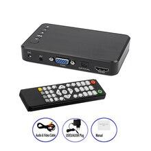 מיני מלא מדיה HD מולטימדיה נגן הפעלה אוטומטית 1080P USB חיצוני HDD Media Player עבור SD U דיסק HDMI VGA AV פלט עבור MKV RMVB