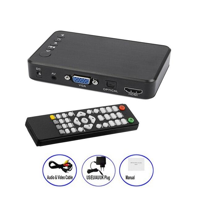Mini Full HD Media multimedia Player Autoplay 1080P USB External HDD Media Player For SD U Disk HDMI VGA AV Output FOR MKV RMVB