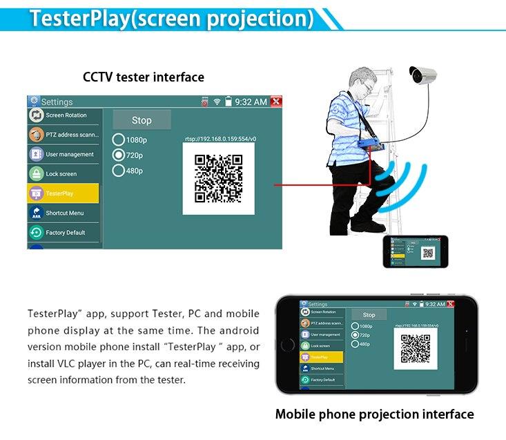 Tela e monitor de CFTV