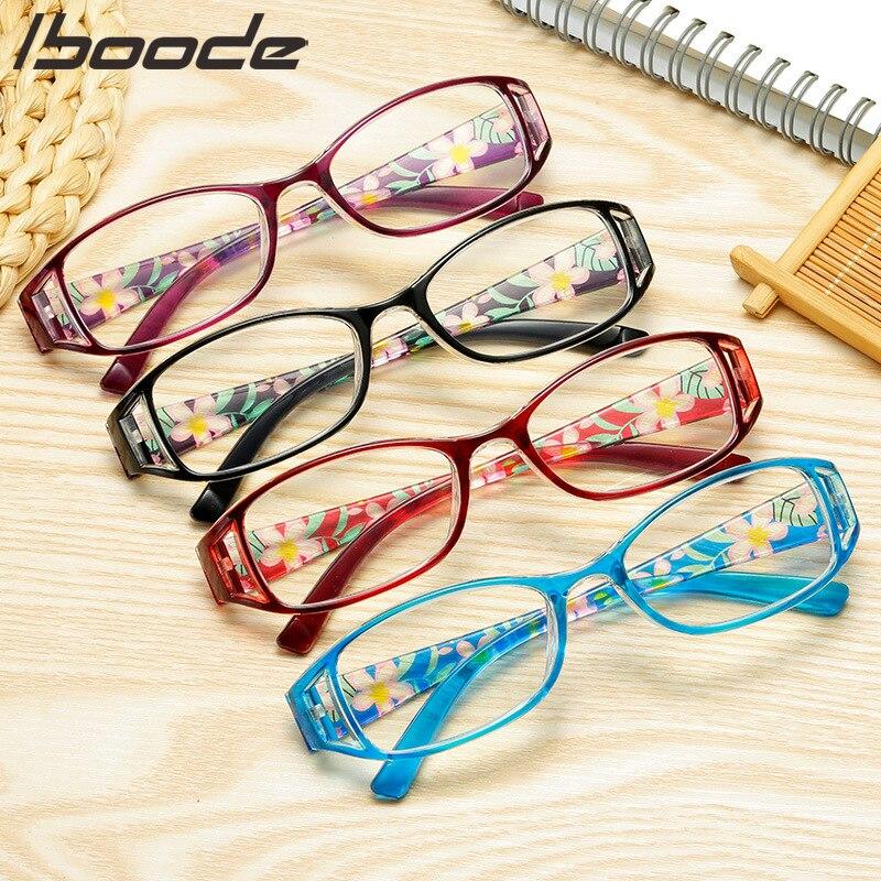 Iboode анти-синий светильник очки для чтения с цветочным принтом для женщин и мужчин защита компьютера модные очки + 1,0 1,5 2,5 3,0 3,5