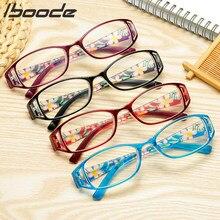 Iboode-gafas de lectura con estampado Floral para hombre y mujer, anteojos de lectura con protección para Ordenador + 1,0 1,5 2,5 3,0 3,5