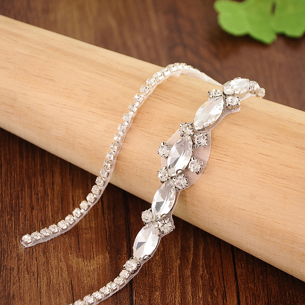 TRiXY S386 Shinny Wedding Belts Rhinestones Wedding Sashes Diamond Bridal Belts Bridal Sashes Bride Bridesmaid Dress Accessories