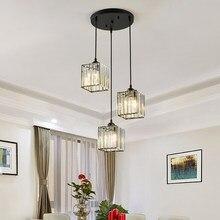 Современный светодиодный хрустальный Потолочный подвесной светильник для Кухня обеденный стол Винтаж люстра в Лофт Спальня Подсветка сал...