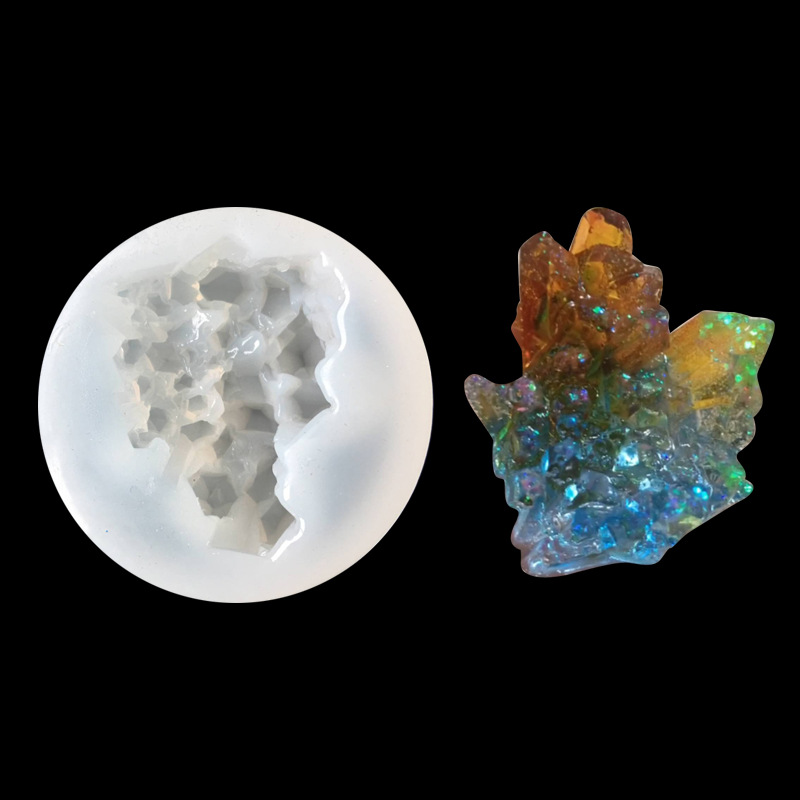 Transparent Silicone Mold For Resin Jewellry Uv Resin Molds Crystal Cluster Jewelry Making Tools