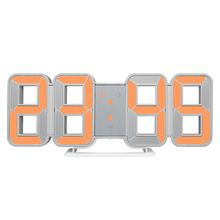 3D Wall Clock Digital LED Large Time Date Thermometer Morden Design Watch Home Decor Alarm Clocks