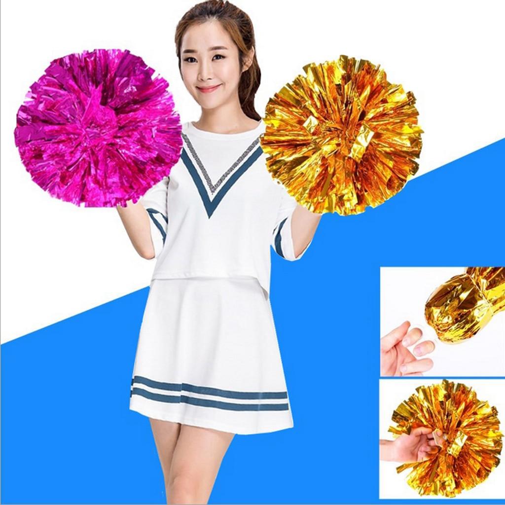 Pompoms Pom Poms Cheerleader Dance Wear Hen Party Football Fancy Dress Accessory