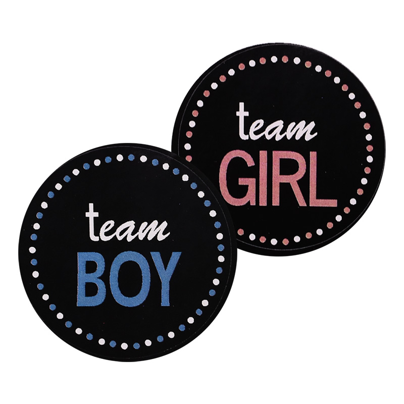 24/48pcs Team Boy Team Girl Stickers Boy Or Girl Vote Sticker For Gender Reveal Party Creative Decoration Baby Shower Supplies