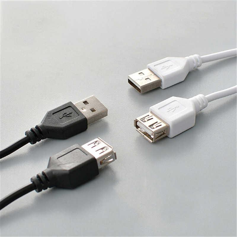 Czarny USB 2.0 A na męski żeński przedłużacz szybki przedłużacz USB kabel danych do ładowania przewód 1.5M