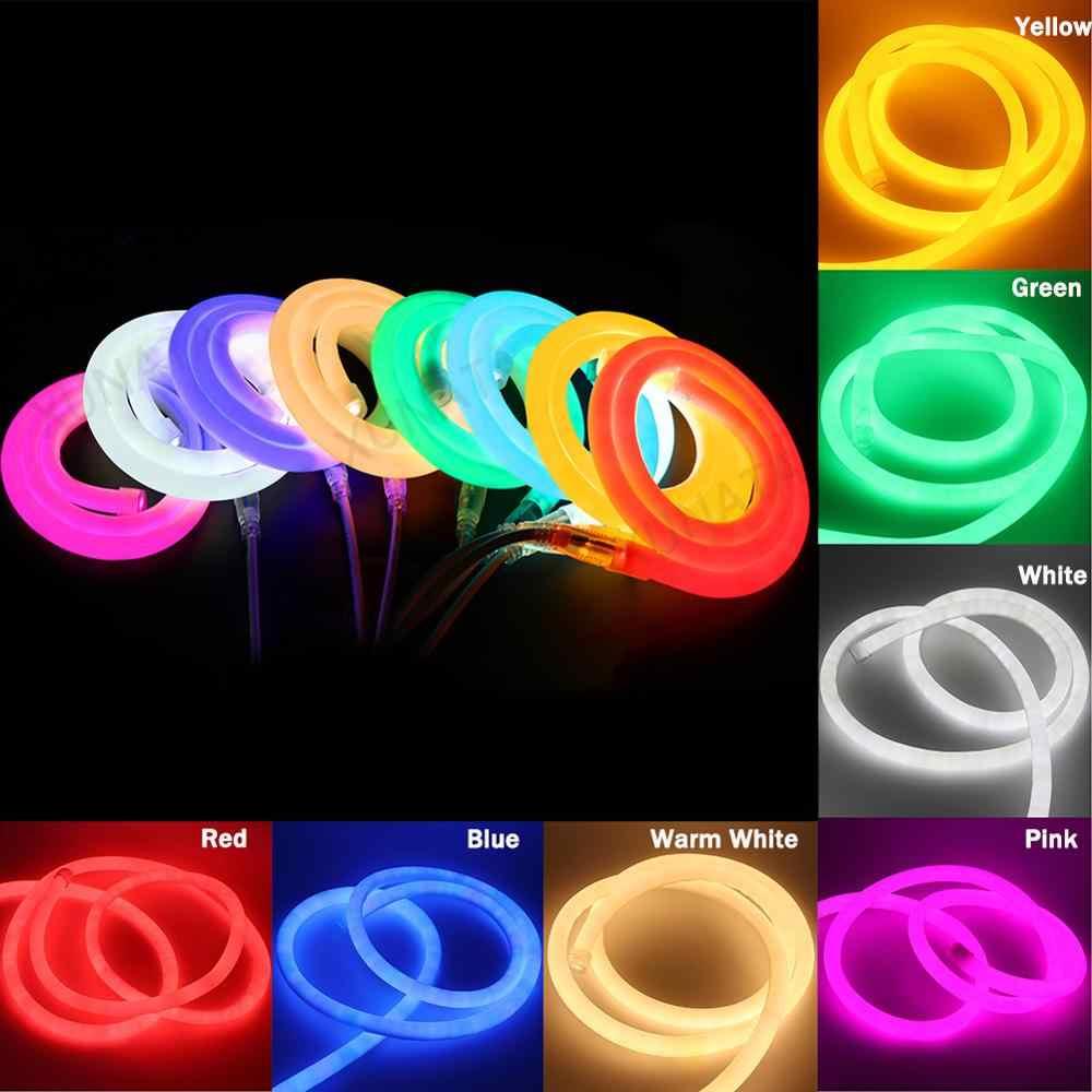 360 ĐÈN LED Tròn Neon Ống 12V Linh Hoạt Neon Dải Băng Keo Chống Thấm Nước Dây ĐÈN LED Neon Ký cho Trang Trí Mềm Mại neon Dây Thanh Ánh Sáng