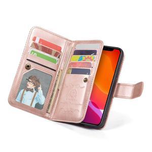 Image 5 - 9 posiadacz karty portfel etui na Apple iPhone 11 Pro Max Xs X XR 8 7 6 6S Plus 5 5S SE etui z klapką ze skóry odpinany magnetyczny futerał na telefon