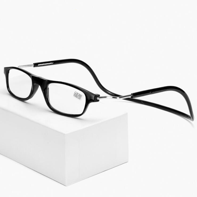 GLTREE Magnetic Foldable Reading Glasses Men Women Light Hanging Neck Reading Glasses Presbyopic Adjustable Magnet Glasses G23