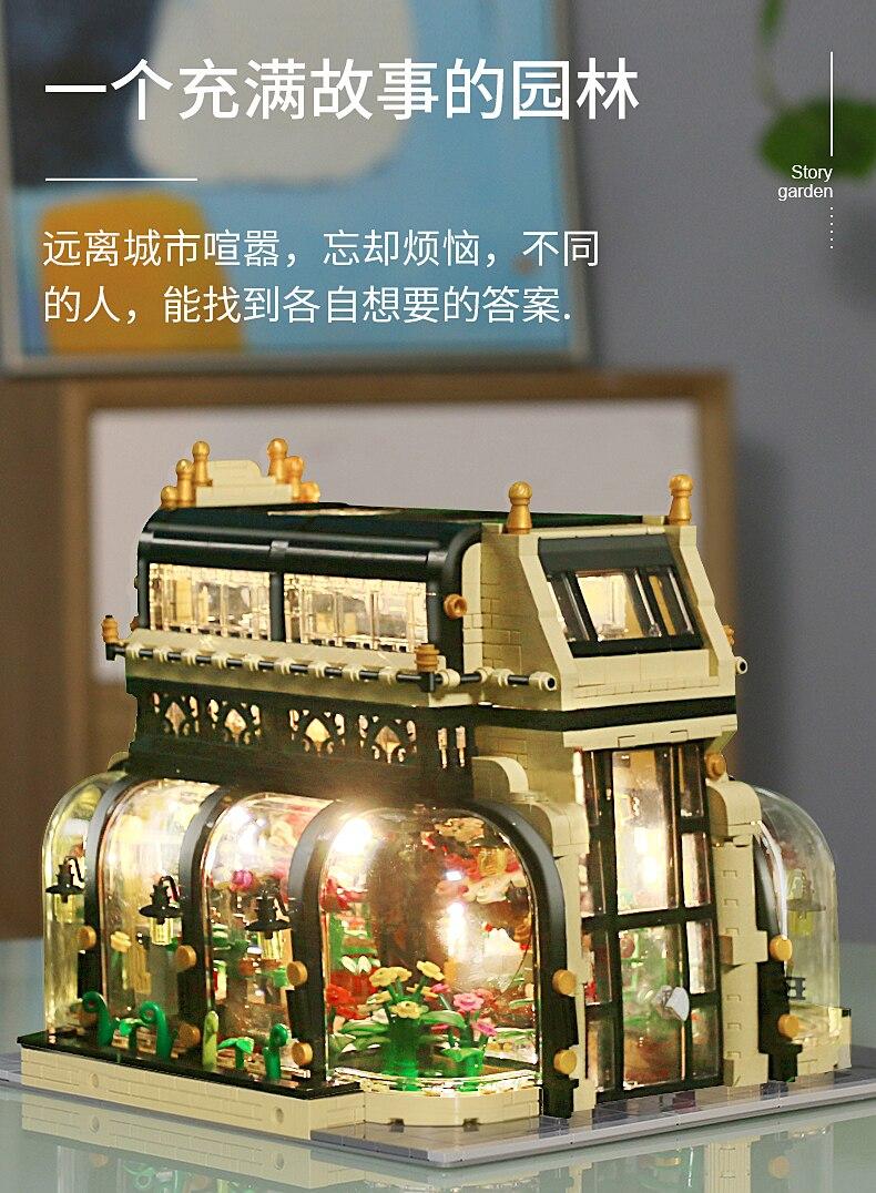 MOULD KING 16019 Botanical Garden With LED Lights