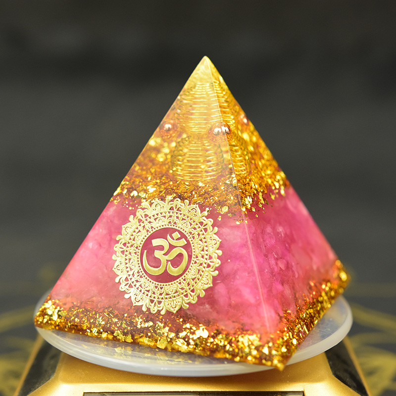 Orgonite Reiki Division Hand Work Organ Handmade Spiritual High Frequency Energy Orgon Pyramid Crystal Healing EMF Protection