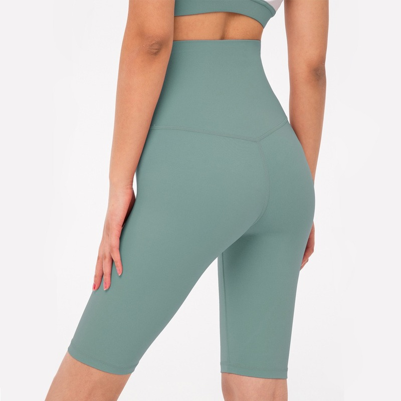 Nude Feel Non-see Through Colorvalue Short Leggings High Waist High Stretch Women Bikers Short Quick Dry Push Up Athletic Shorts