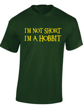 I'm Not Short I'm Hobbit Mens T-Shirt Funny Lord Of Rings Fan The Design Retro Funny Design Tee Shirt(China)