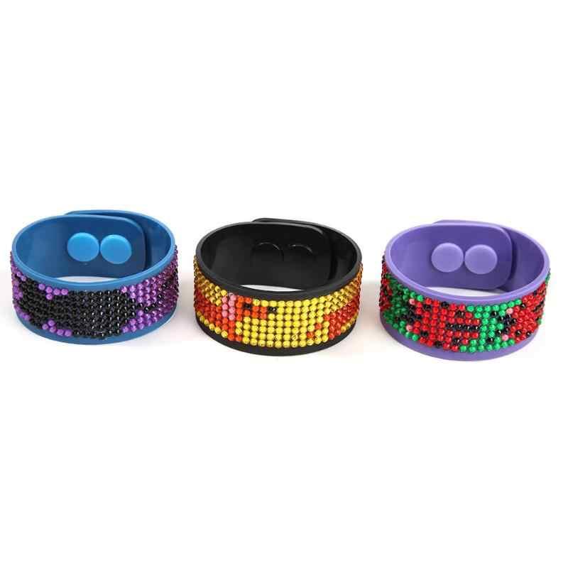 3 pièces bricolage diamant peinture point de croix bracelets de poignet habile montre ceinture hibou Mandala diamant mosaïque fête cadeau complet partiel perceuse