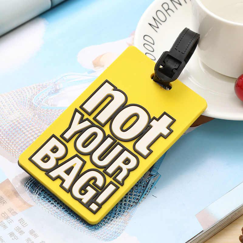 "Creatieve Bagage Tags Brief ""Niet Uw Tas"" Koffer Cartoon Stijl Mode Silicon Draagbare Reizen Label Reizen Accessoires"