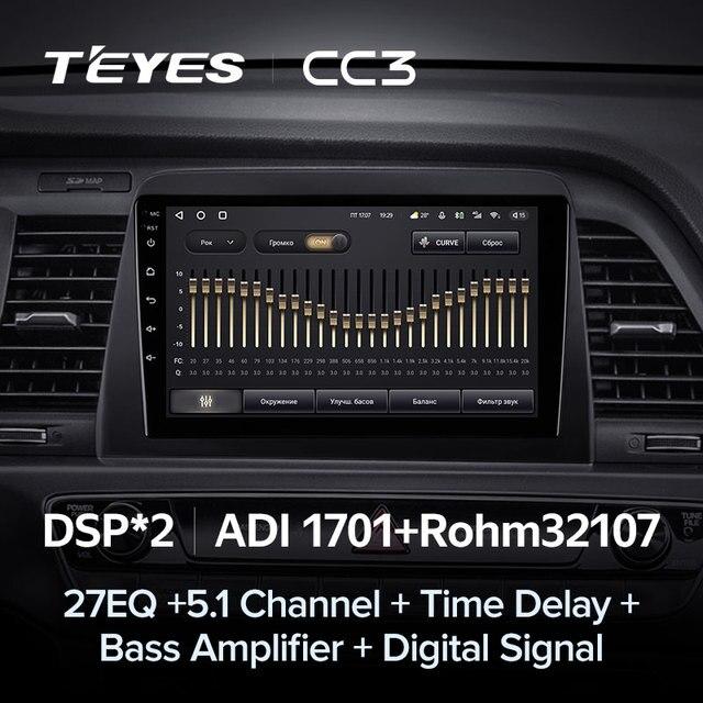 TEYES CC3 Штатная магнитола For Хендай Соната LF рестайлинг ForHyundai Sonata 7 LF 2017 - 2019 до 8-ЯДЕР, до 6 + 128ГБ 27EQ + DSP carplay автомагнитола 2 DIN DVD android 10 мультимедиа автомобиля головное устройство 4