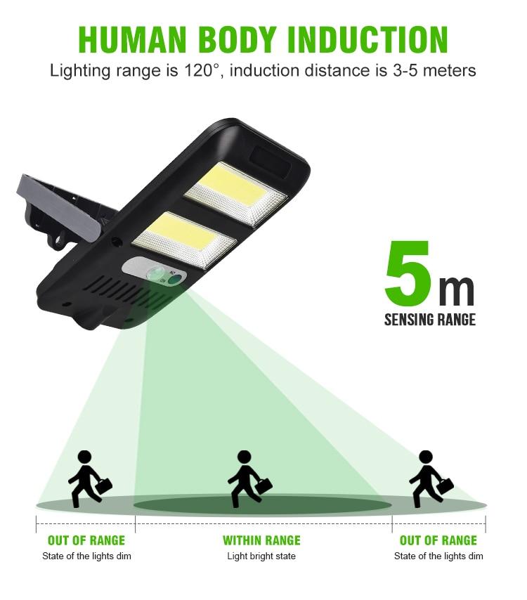 LED Solar Power PIR Motion Sensor Wall Lights Outdoor Garden Lamp Waterproof 8W Spotlight Sunlight Street Light Solar Lamps