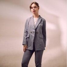 Heydress  2019 women solid single blazer office lady fashion high waist pants suit female elegant two piece set