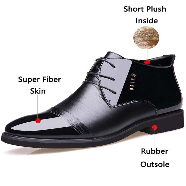 Фото мужские ботинки из микрофибры junjarm черные кожаные ботильоны