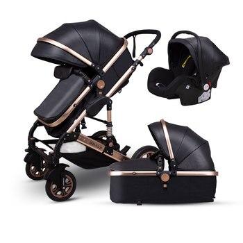 Newborn Baby Stroller 3 in 1 High Landscape Carriage Luxury Travel Pram Basket quality Stroller Baby Car seat Hot Sale Upgrade! 25