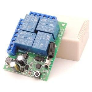 Image 5 - Contrôleur sans fil universel de RF de Module de récepteur de relais de 433MHz 110V 220V 10Amp 2200W 4CH pour louvreur de lumière/LED