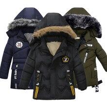 Модные зимние куртки для мальчиков, детские куртки, детские пальто, одежда для маленьких мальчиков, хлопковые пальто
