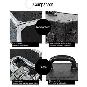 Image 4 - كبير منظم أدوات التجميل صندوق لطيف ماكياج التجميل المنظم حافظة للمكياج ل أدوات تجميل قابل للقفل الأسود تحتوي على صندوق تخزين