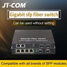 Gigabit Ethernet Anahtarı SFP Fiber Anahtarı 10/100 / 1000Mbps Fiber Optik Ortam Dönüştürücü 2 * SFP Fiber Bağlantı Noktası ve 2 4 8 RJ45 UTP Bağlantı Noktası 2G2 / 4 / 8E Fiber Ethernet Anahtarı