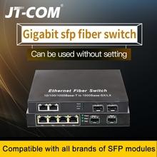 Przełącznik Gigabit Ethernet Przełącznik światłowodowy SFP 10/100 / 1000Mbps Światłowodowy konwerter mediów 2 * Port światłowodowy SFP i 2 4 8 Port RJ45 UTP 2G2 / 4 / 8E Przełącznik światłowodowy Ethernet