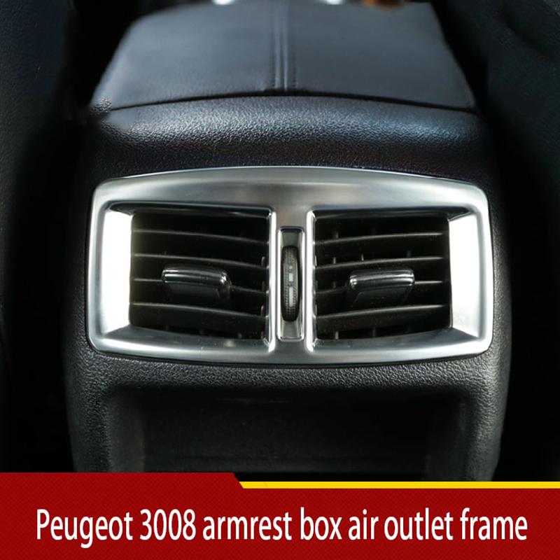 13-19 for Peugeot 3008 rear air conditioner air outlet decorative frame Sequin sticker special modification