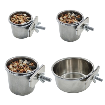 Stainless Steel Birds Feeding Cage Bowl
