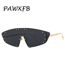 PAWXFB 2019 new fashion men women sunglasses cat eye Sun glasse mirror Eyewear
