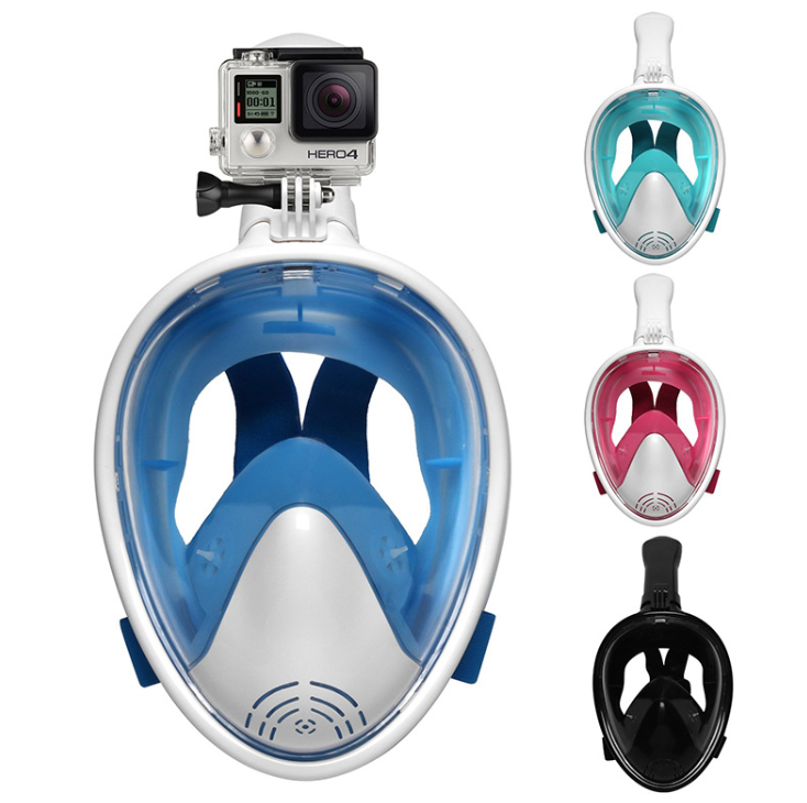 The New Six-generation Diving Mask Curved Surface Snorkeling Mask For Children And Adults Swimming Full Dry Snorkeling Tube Anti