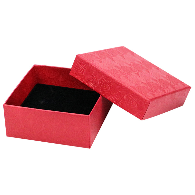 New Ring Necklace Earring Bracelet Box Storage Scallop Jewelry Gift Box Wedding Paper Bag Storage Case Organizer Display Holder