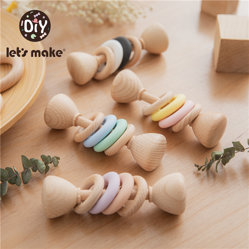 let's make Baby Rattles Bell toy 1pc Soother Teether Molar Toy Safe Without FPA Musical Chew Montessori Toys Boys Girls Gifts