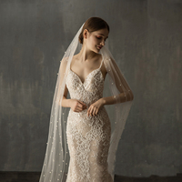 Wedding Veils Bridal Wedding Veils Handworks pearls Veil For Wedding
