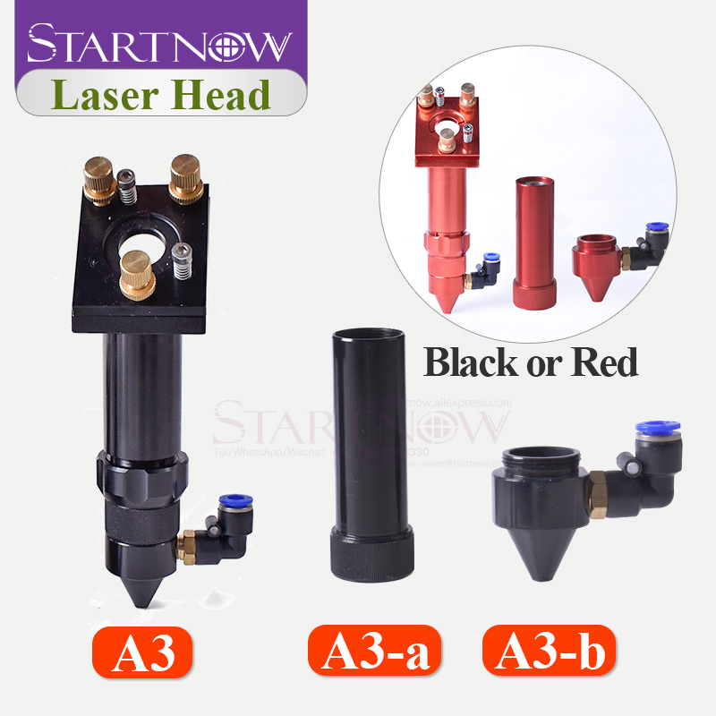 CO2 Laser Air Nozzle Jet & CO2 Laser Head Holder With Focus Lens Set And 25mm Mirror Mount For Laser Machine Hardware Tools