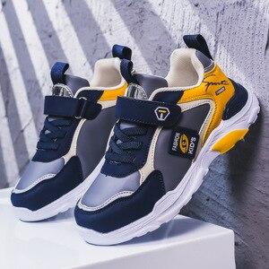 Image 2 - 子供の靴 boys ガールズ 2020 春新スタイルベルクロ スタイル革のファッション子供のスポーツの靴ホット販売スニーカー